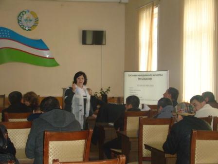 Toshkent shahri Mirzo Ulug'bek tumanida o'tkazilgan o'quv seminar